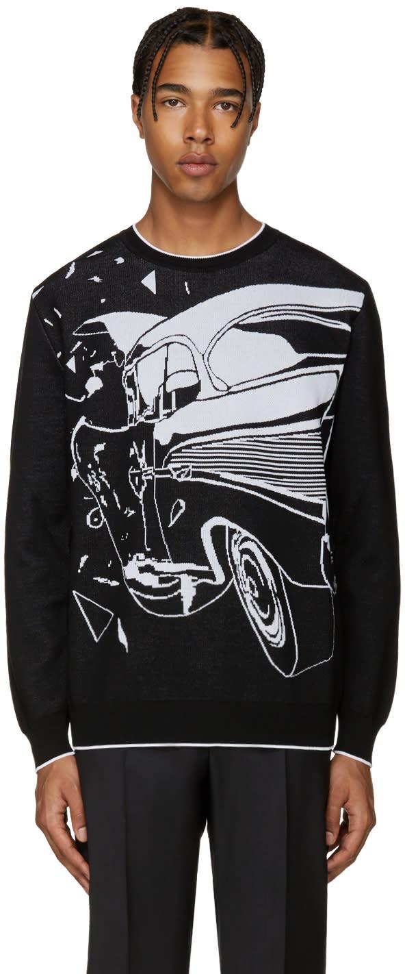 Christopher Kane Black Car Crash Sweater
