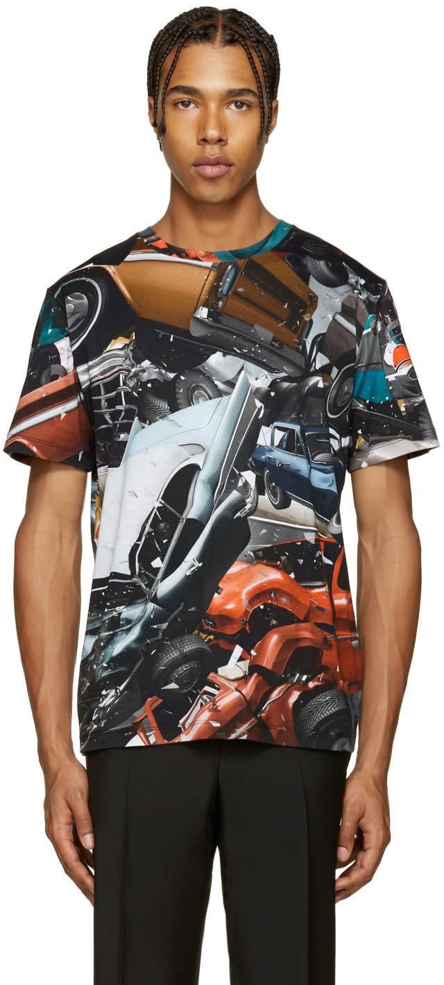 Christopher Kane Multicolor Car Crash T-shirt