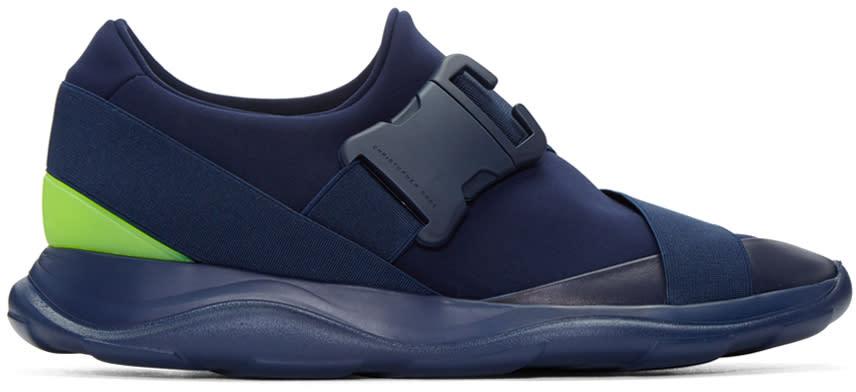 Christopher Kane Navy Neon Spoiler Sneakers