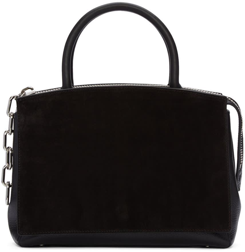 Alexander Wang Black Large Attica Flap Marion Bag at SSENSE
