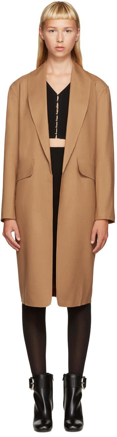 Alexander Wang Brown Wool Coat