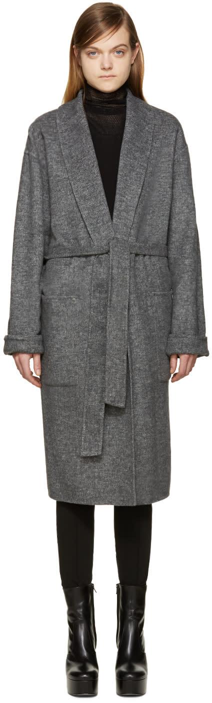 Alexander Wang Grey Belted Robe Coat