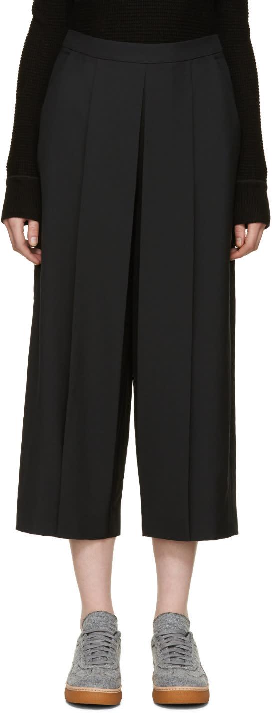 Alexander Wang Black Pleated Trousers