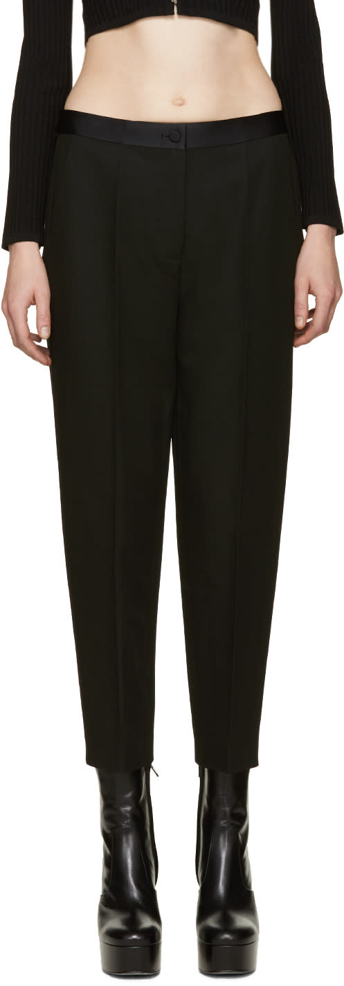Alexander Wang Black Satin Trim Trousers