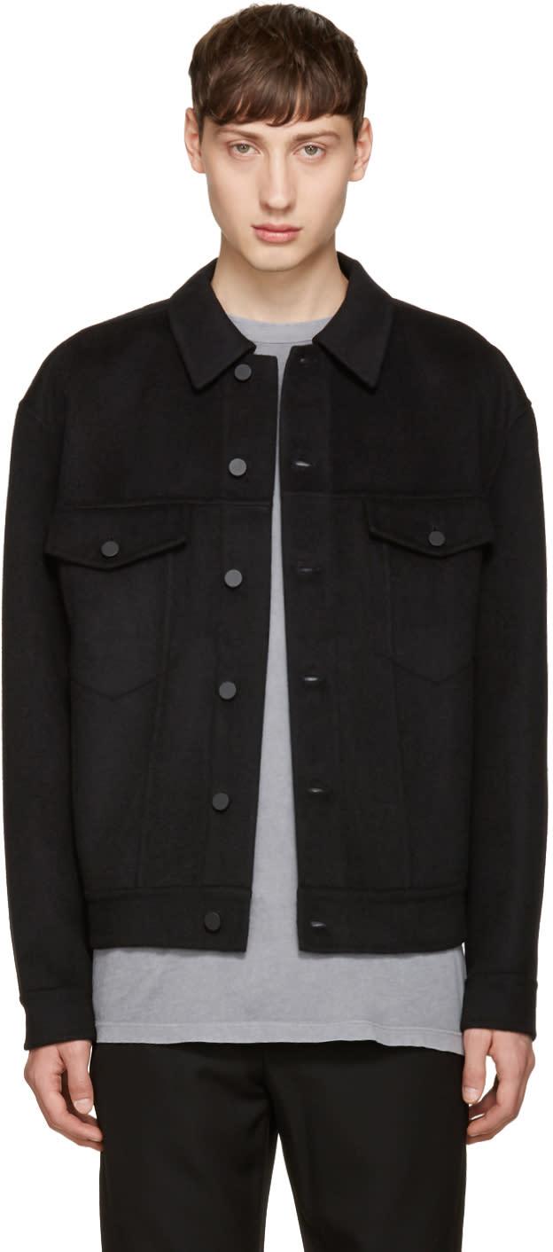 Alexander Wang Black Wool Oversized Jacket