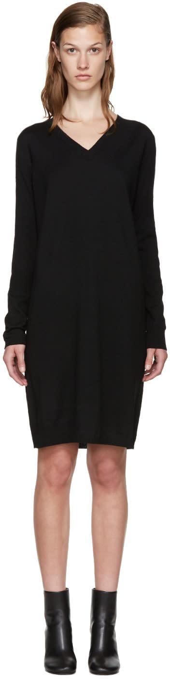 Mm6 Maison Margiela Black Wool Dress