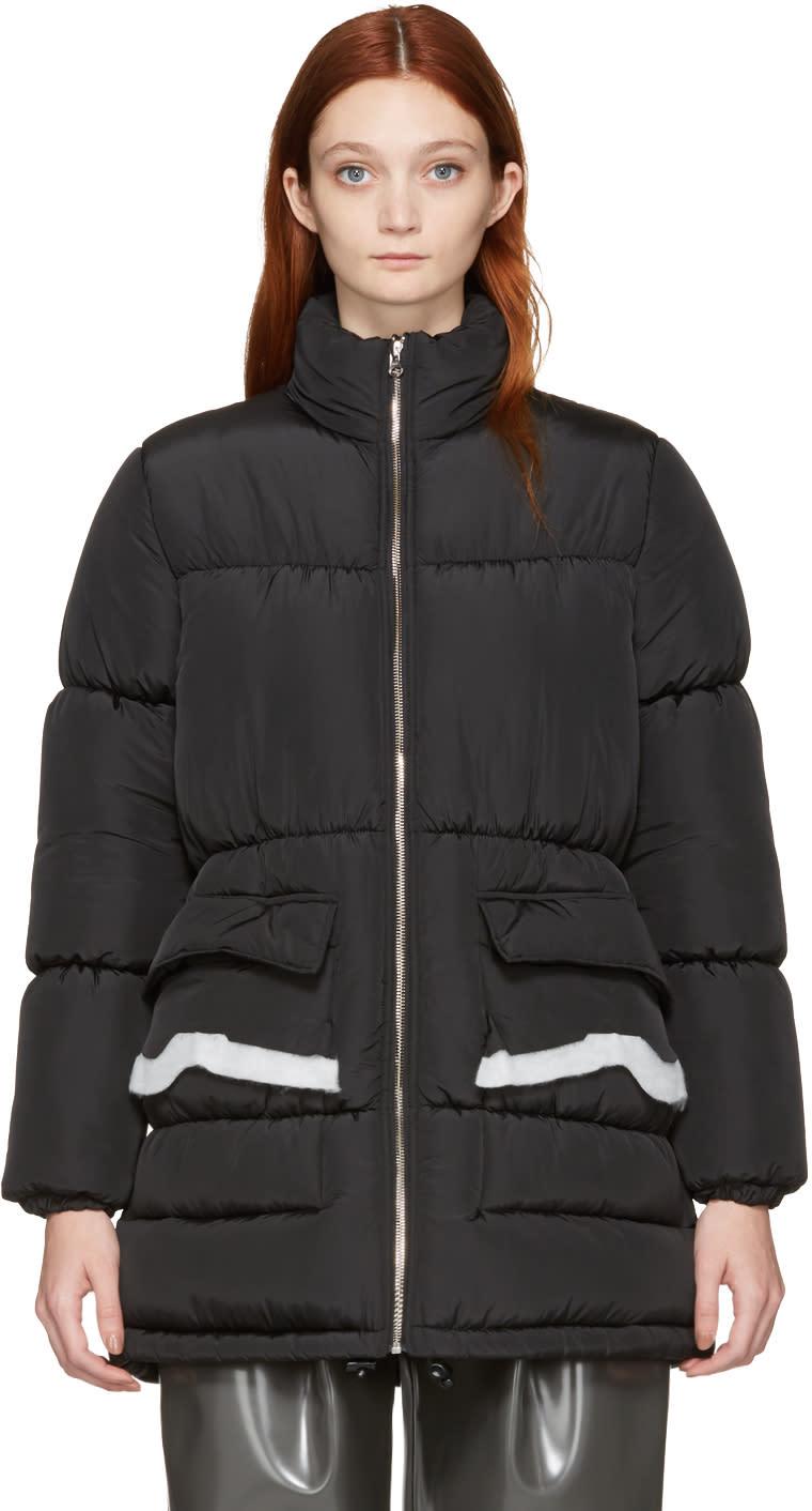 Mm6 Maison Margiela Black Puffer Coat