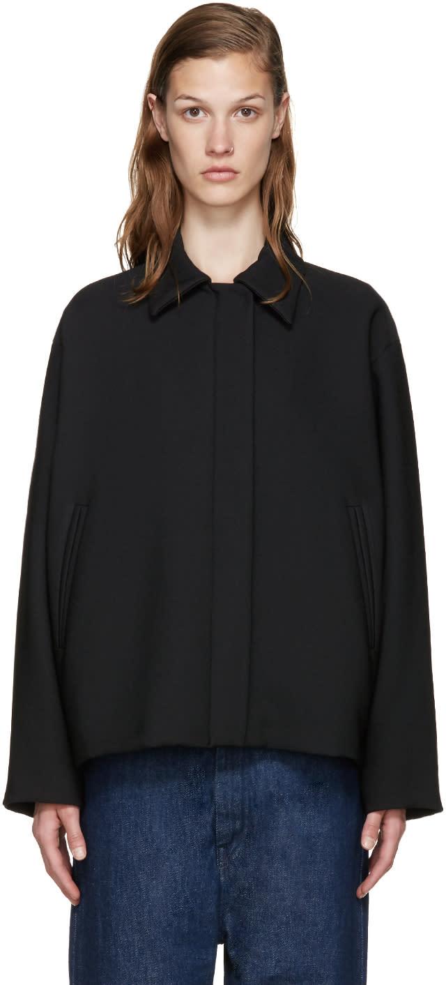 Mm6 Maison Margiela Black Cropped Jacket