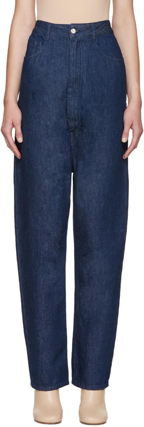 Mm6 Maison Margiela Indigo High-rise Jeans