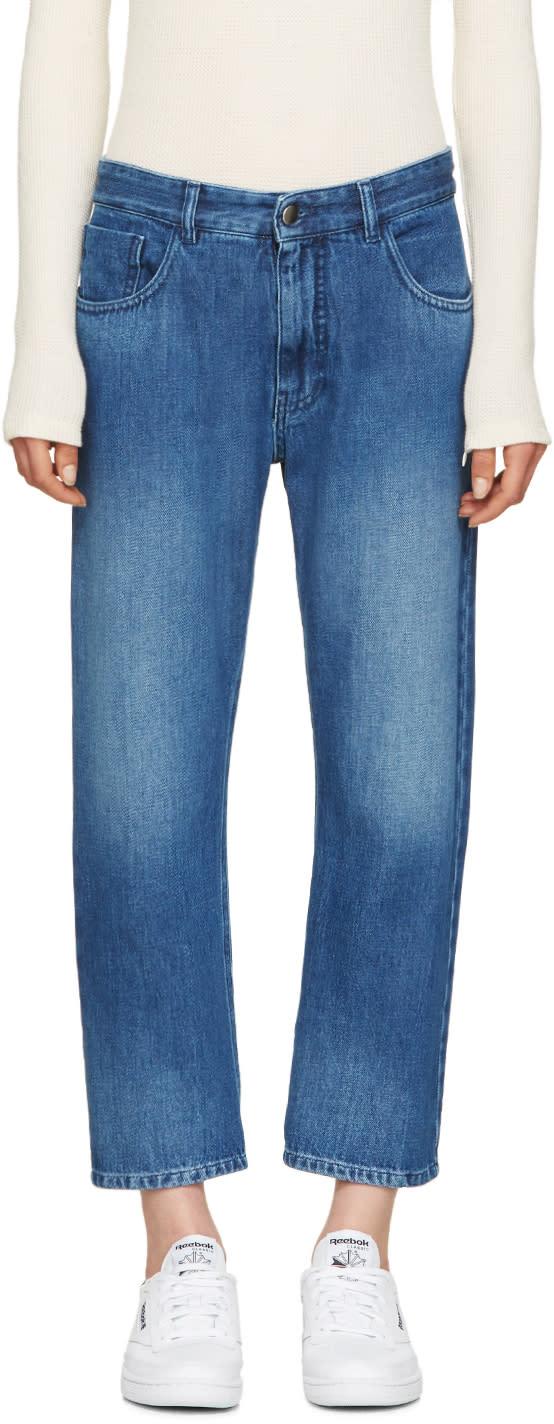 Mm6 Maison Margiela Blue Stonewashed Jeans