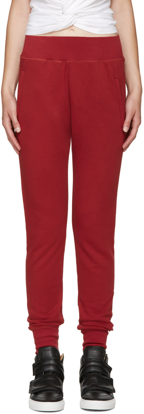 Mm6 Maison Margiela Red Basic Lounge Pants