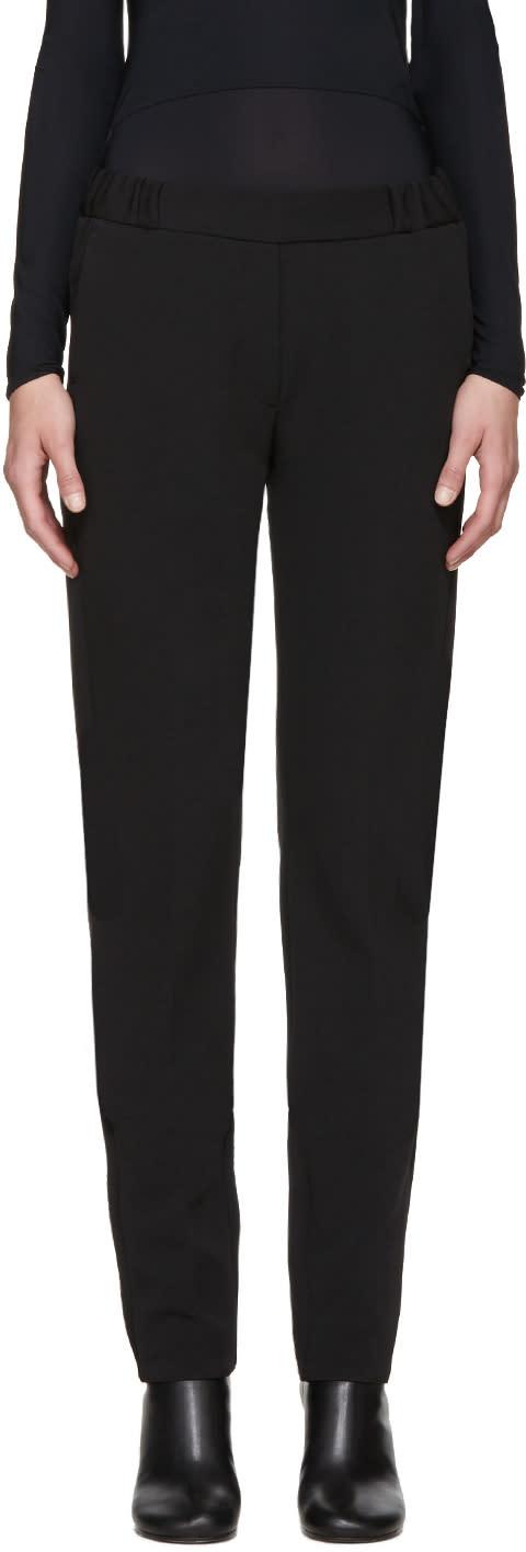 Mm6 Maison Margiela Black Twill Tuxedo Trousers