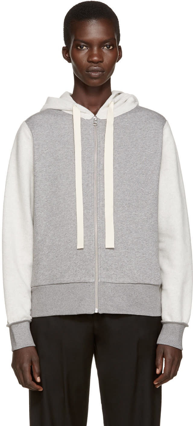 Mm6 Maison Margiela Grey Inside-out Hoodie
