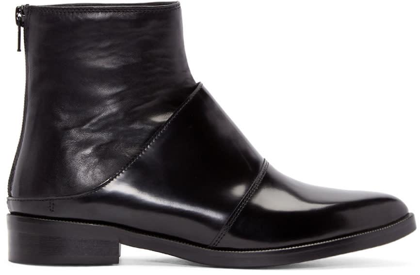 Mm6 Maison Margiela Black Fake Mule Boots