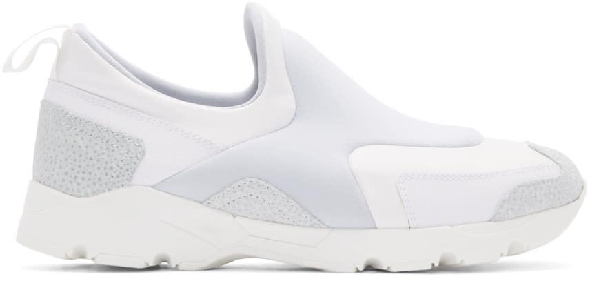 Mm6 Maison Margiela White Neoprene Slip-on Sneakers
