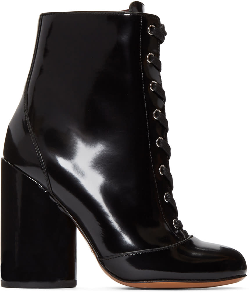 Marc Jacobs Black Lace-up Tori Boots