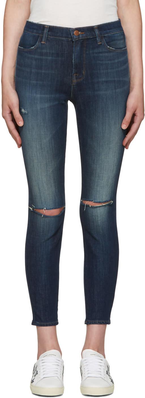 J Brand Indigo Alana High-rise Jeans