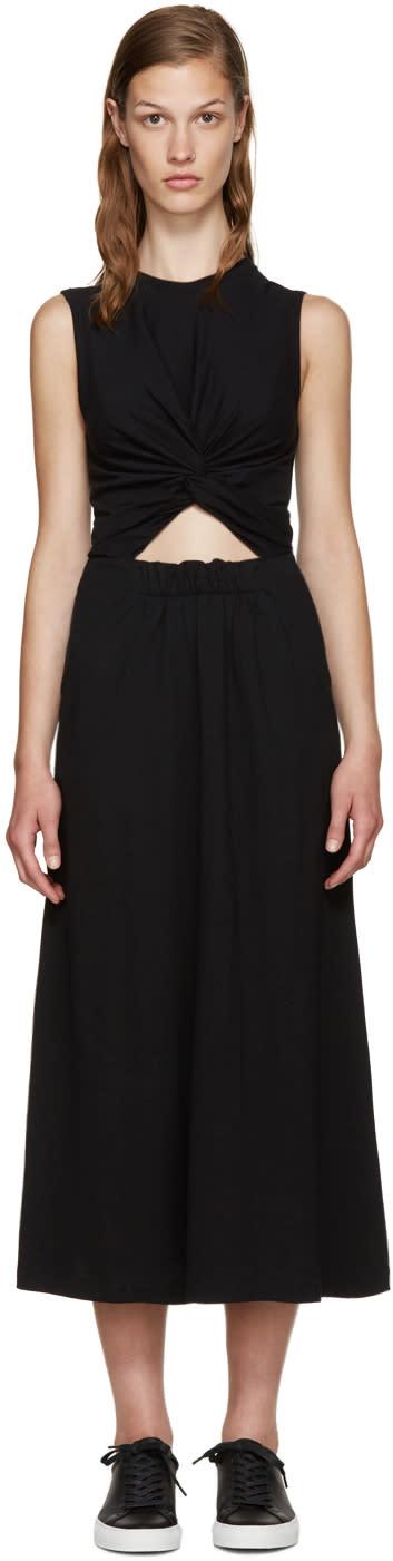T By Alexander Wang Black Twist Front Dress