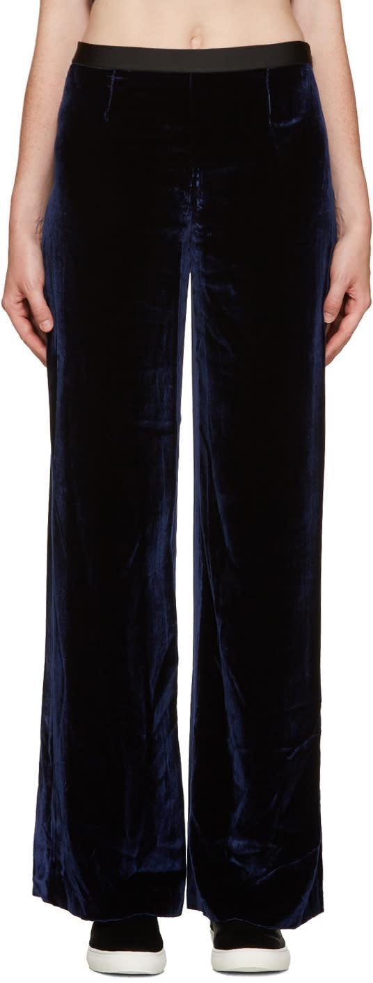 T By Alexander Wang Navy Velvet Lounge Pants