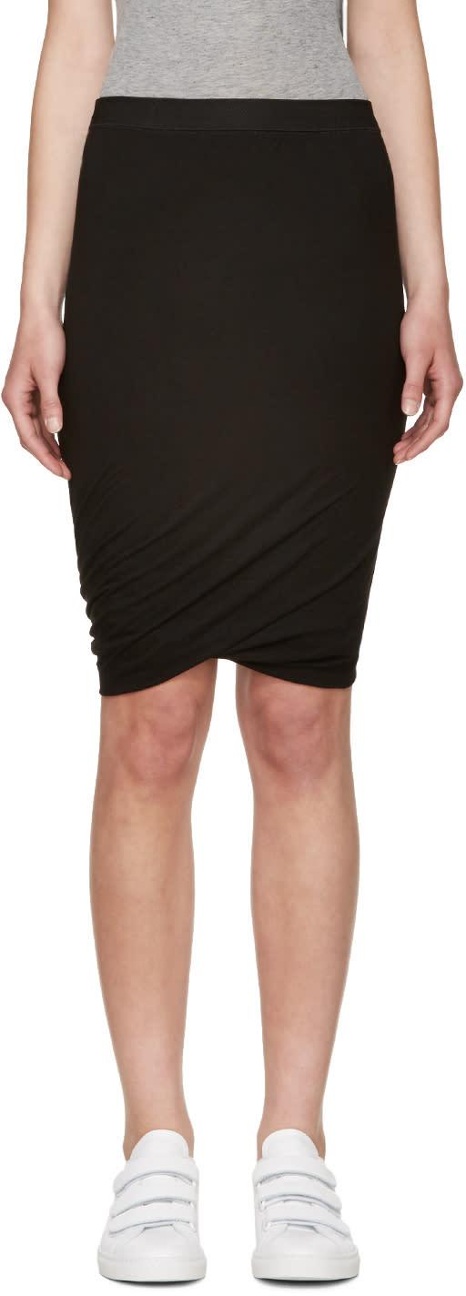 T By Alexander Wang Black Jersey Draped Skirt