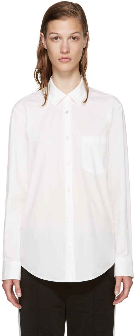 T By Alexander Wang White Poplin Shirt