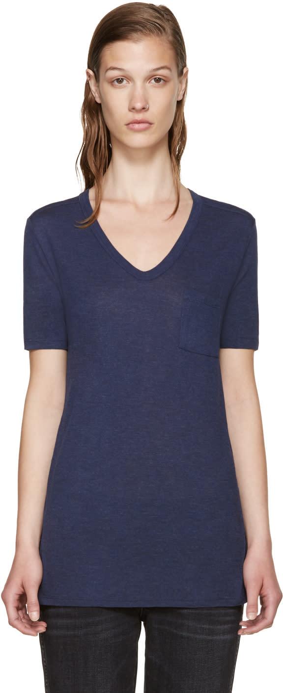 T By Alexander Wang Blue Jersey T-shirt