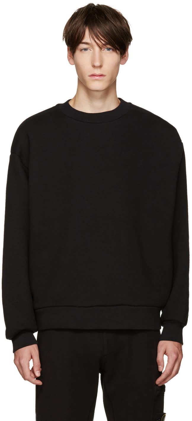 T By Alexander Wang Black Fleece Pullover