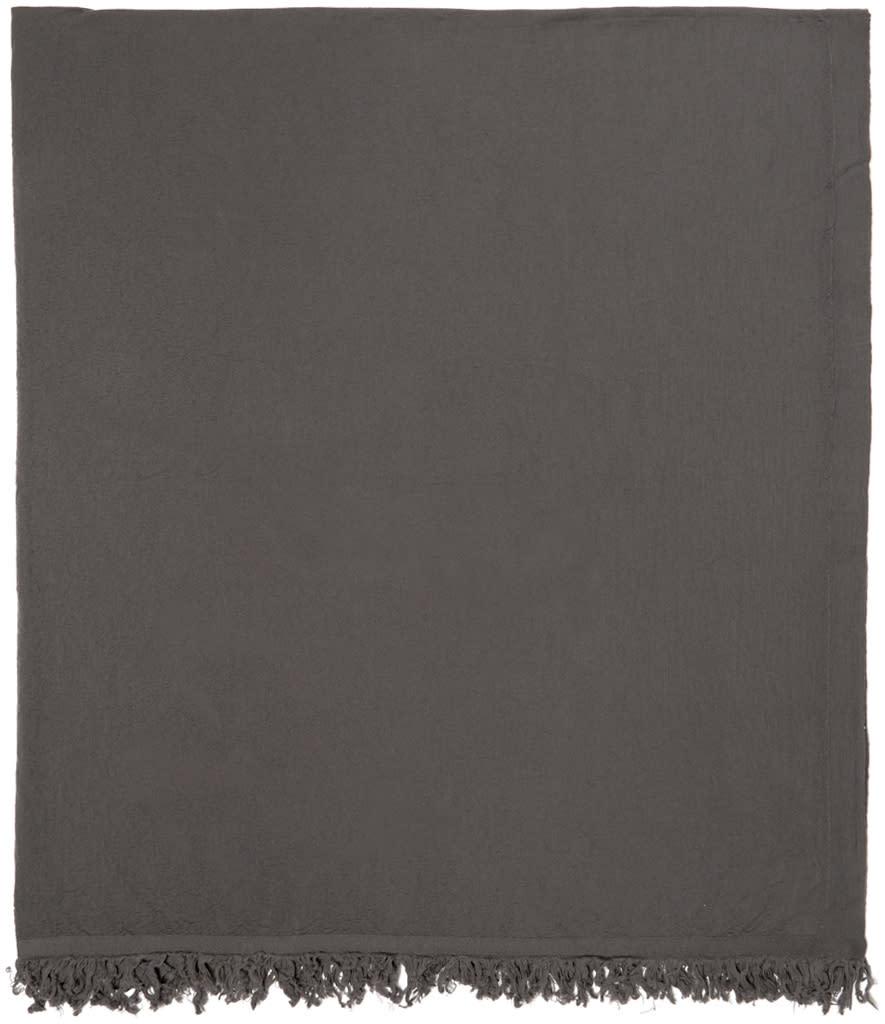 Rick Owens Taupe Wool Blanket Scarf