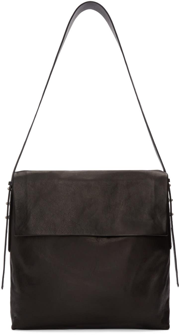 Rick Owens Black Small Hobo Bag at SSENSE