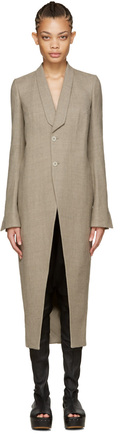 Rick Owens Grey Tusk Coat