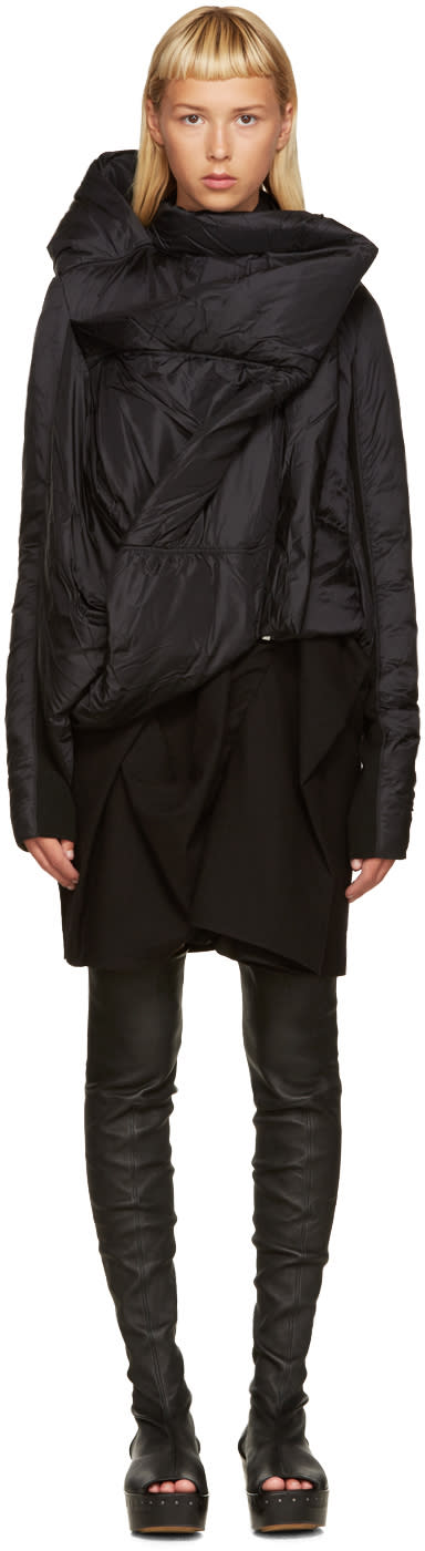 Rick Owens Black Down Guimard Jacket