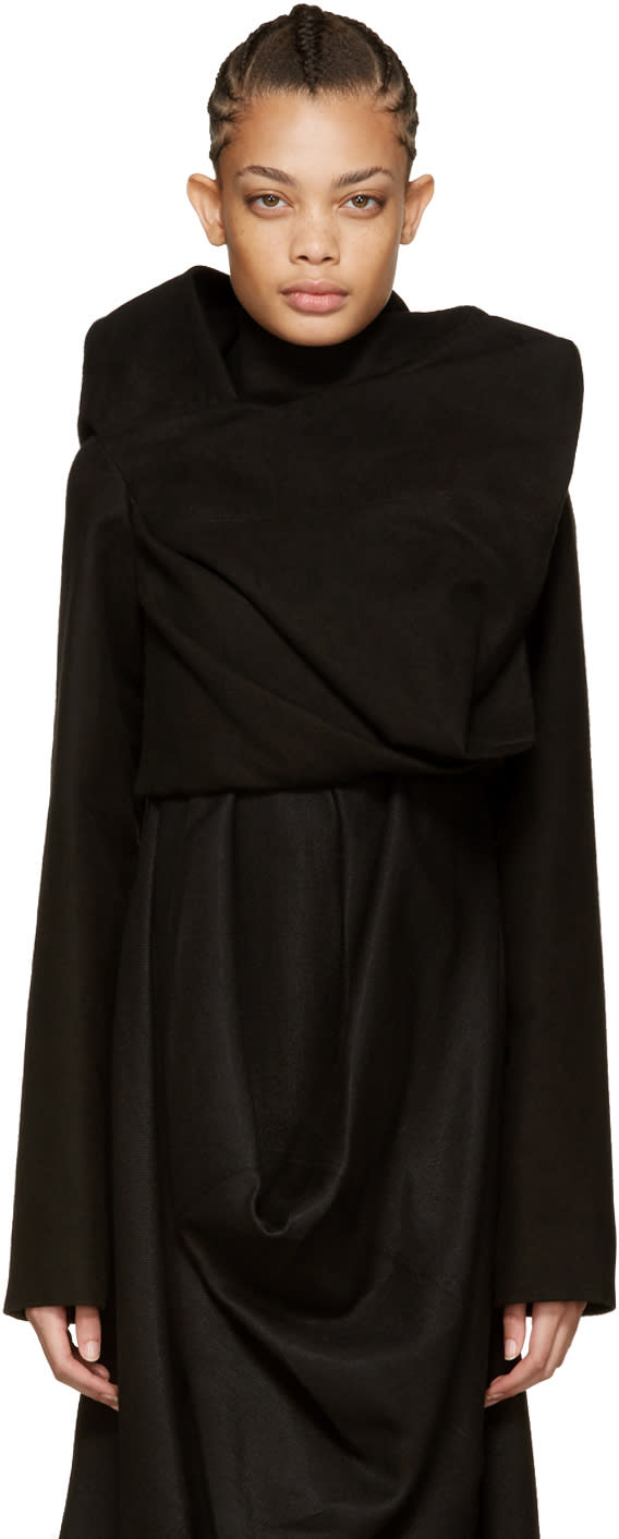 Rick Owens Black Stalacmite Jacket
