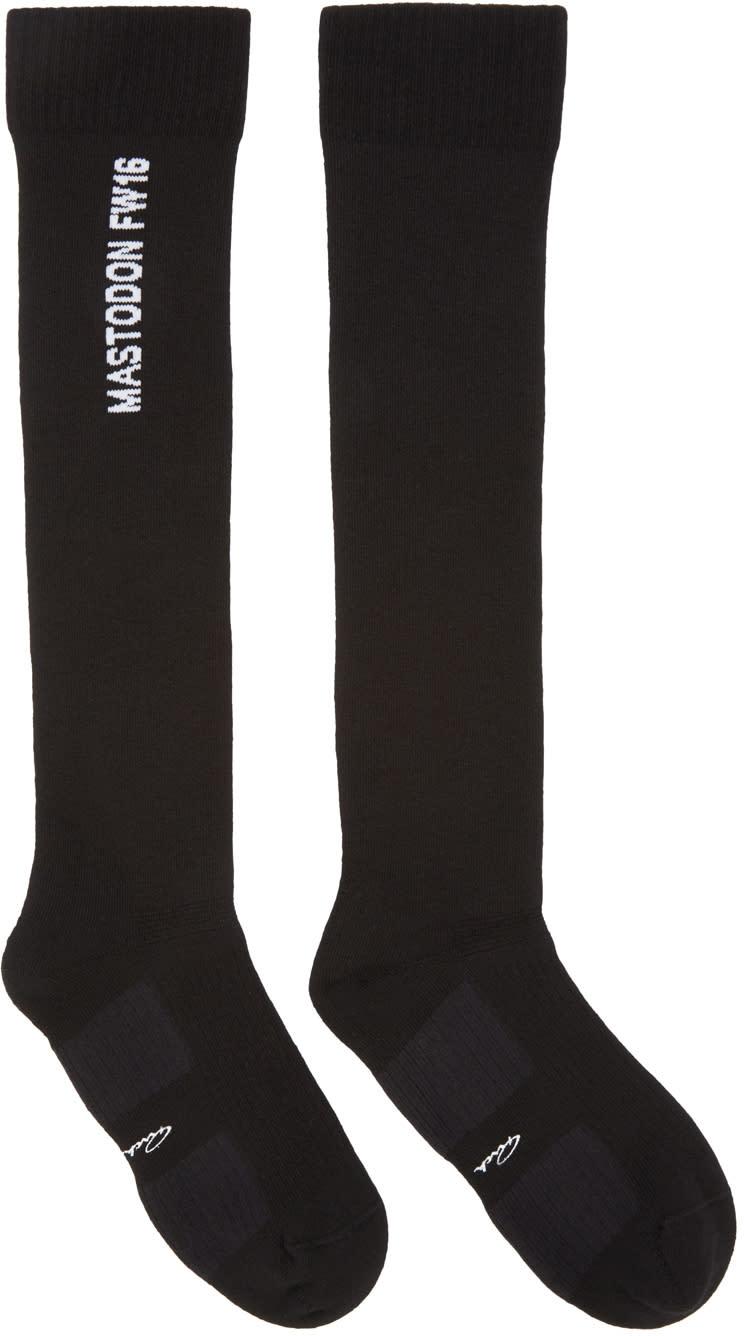 Rick Owens Black Mastodon Knee-high Socks