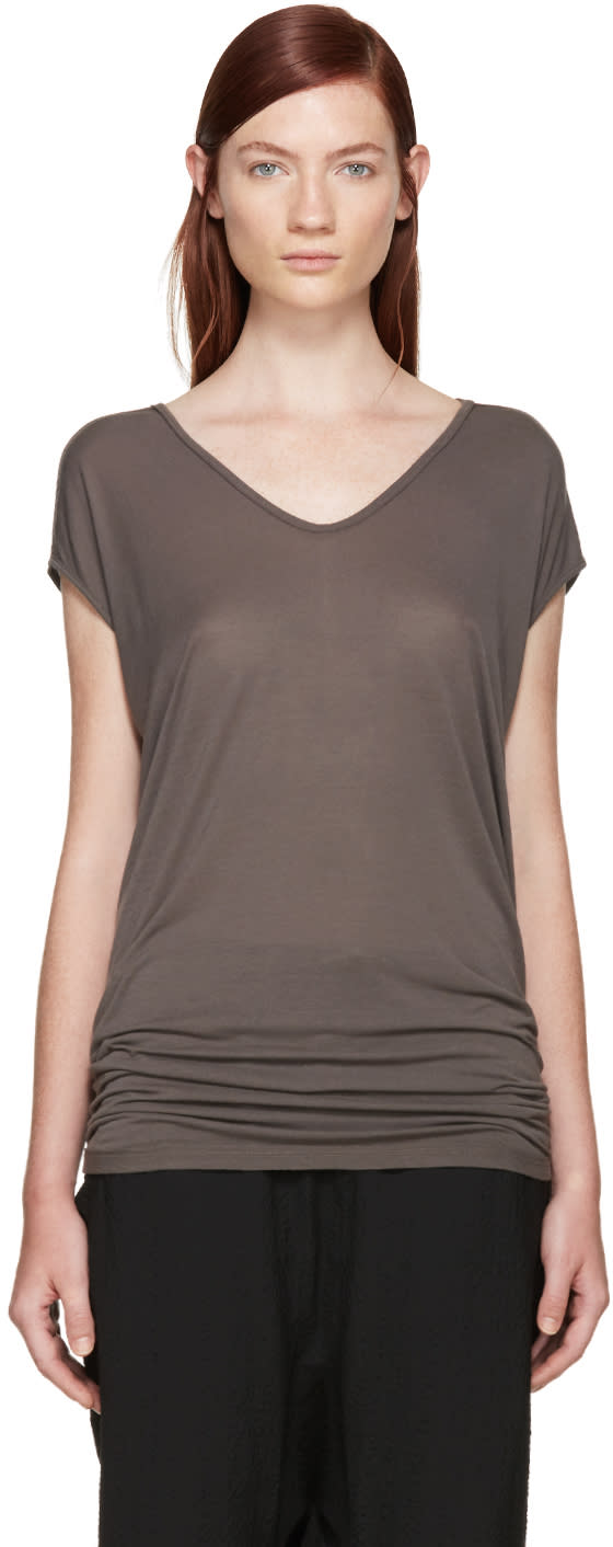 Rick Owens Taupe Jersey Floating T-shirt