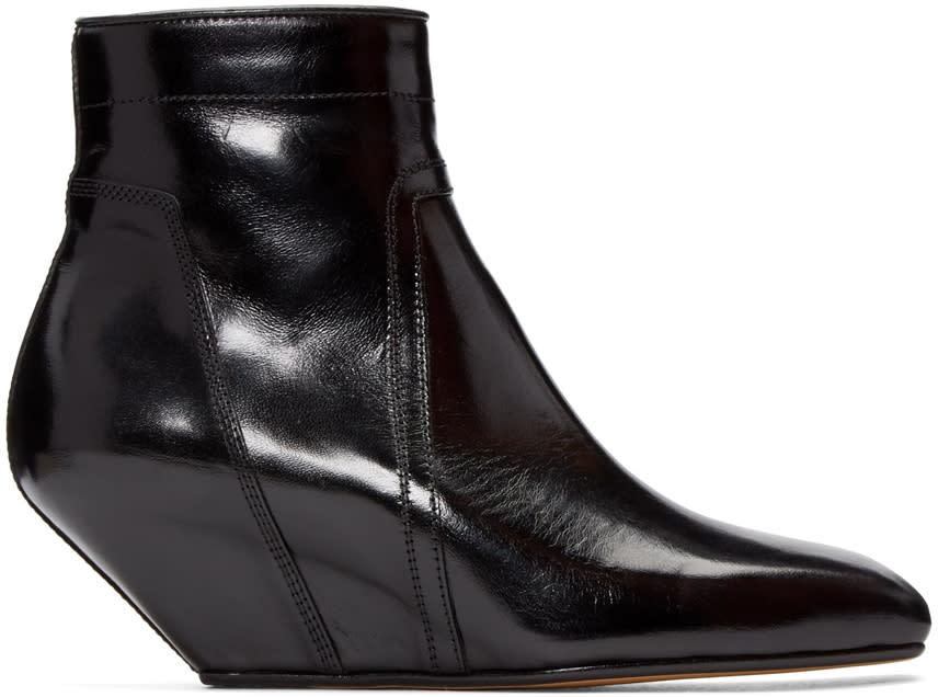Rick Owens Black Sliver Boots