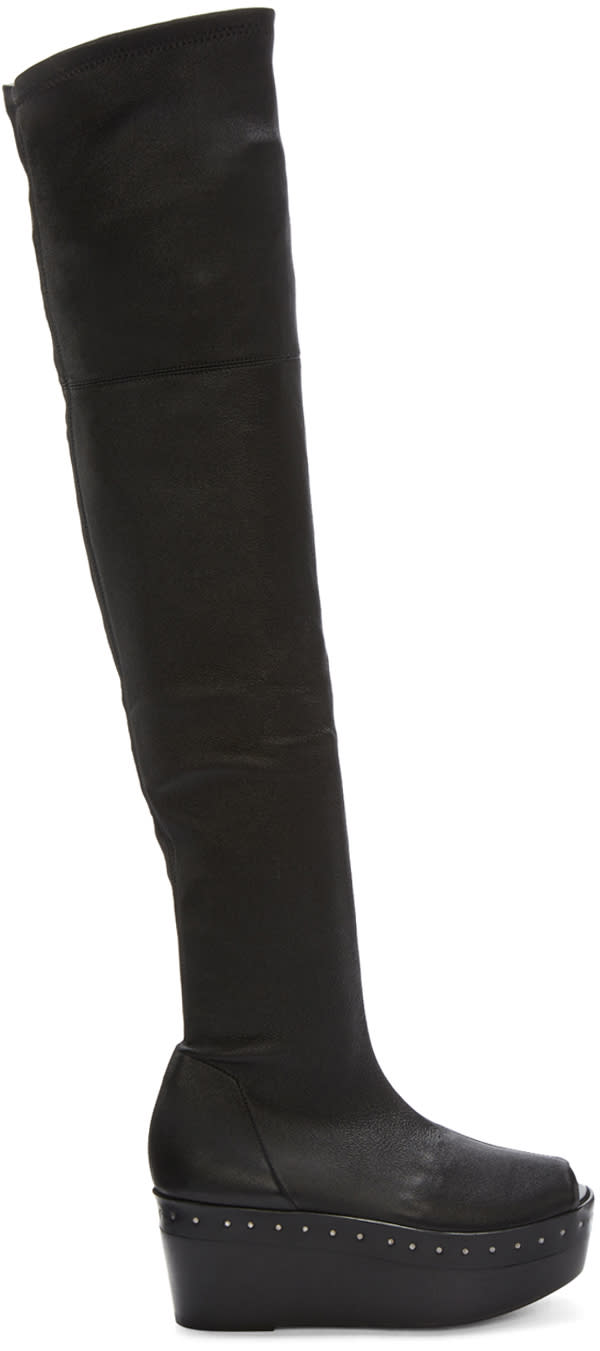 Rick-Owens-Black-Scuba-Sabot-Over-the-knee-Boots