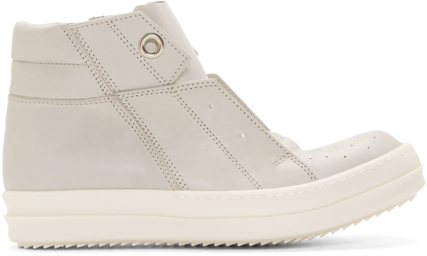 Rick Owens Grey Island Dunk High-top Sneakers