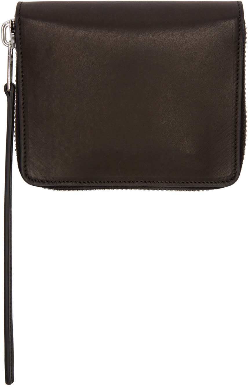 Rick Owens Black Small Zippered Wallet