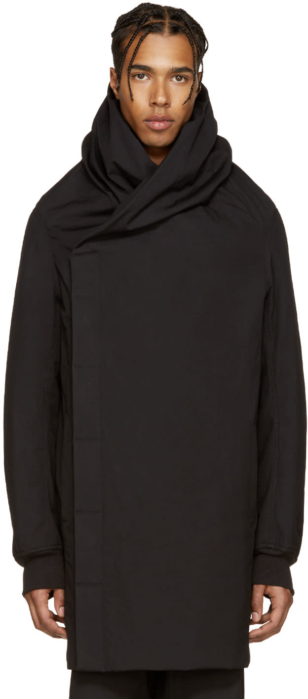 Rick Owens Black Wotan Coat