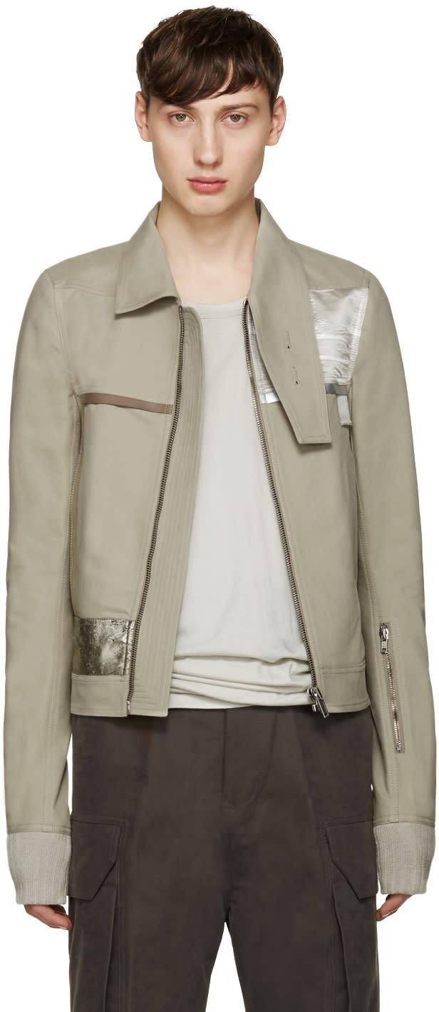 Rick Owens Grey Souvenir Jacket