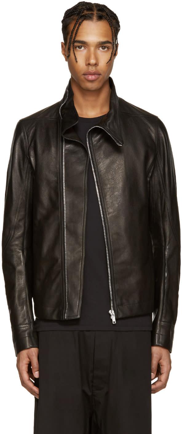 Rick Owens Black Mollinos Biker Jacket