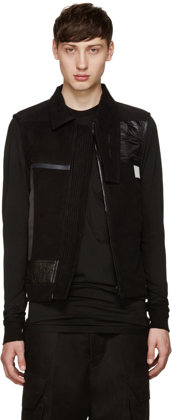 Rick Owens Black Souvenir Vest