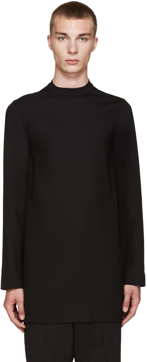 Rick Owens Black Wool Tunic