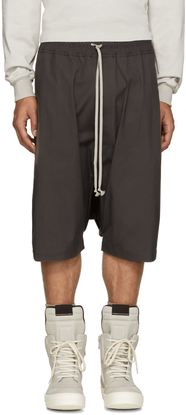 Rick Owens Taupe Pods Shorts