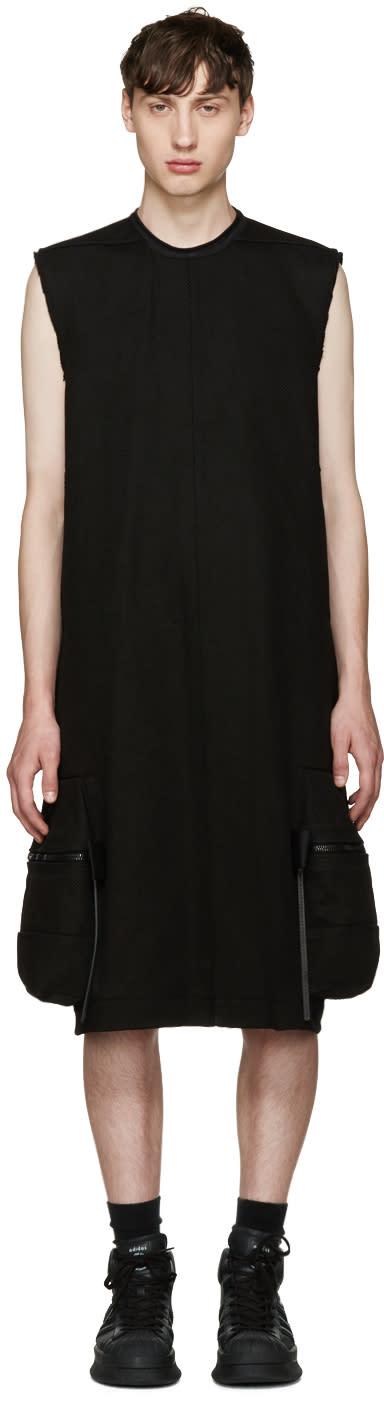 Rick Owens Black Pannier Cargo Dress