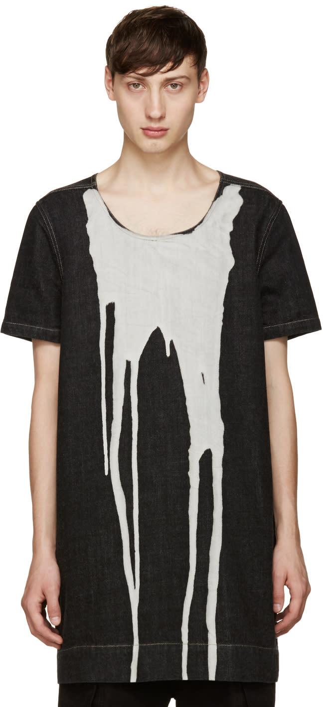 Rick Owens Black Bleached Mastodon T-shirt