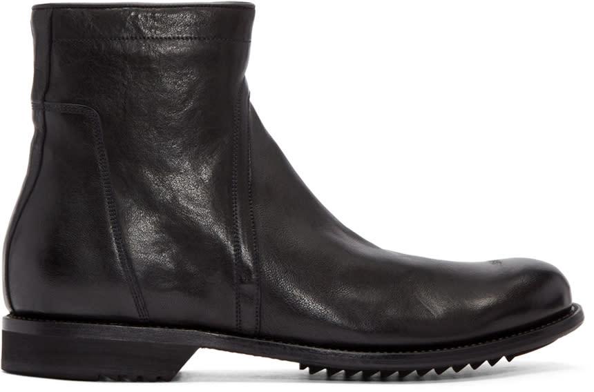 Rick Owens Black Creeper Slim Army Boots