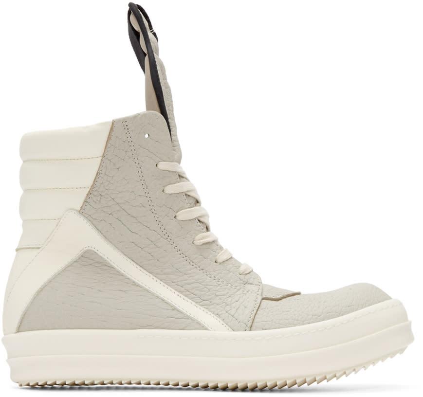Rick Owens Grey Geobasket High-top Sneakers