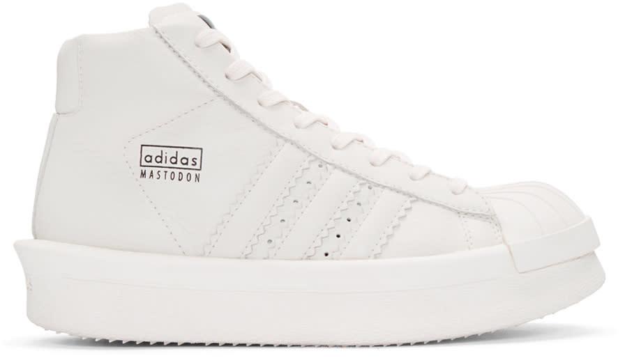 Rick Owens White Adidas Edition Mastodon Pro Sneakers