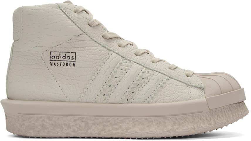 Rick Owens Grey Adidas Edition Mastodon Pro Sneakers